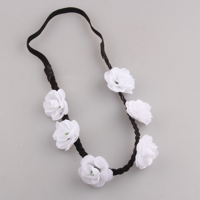 Bohemian Women Flower Garland Chain Jewelry Forehead Dance Headband Hair Band
