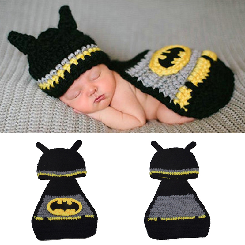 Infant Baby Girls Boys Crochet Knit Hat Costume Photo Photography Prop Outfits