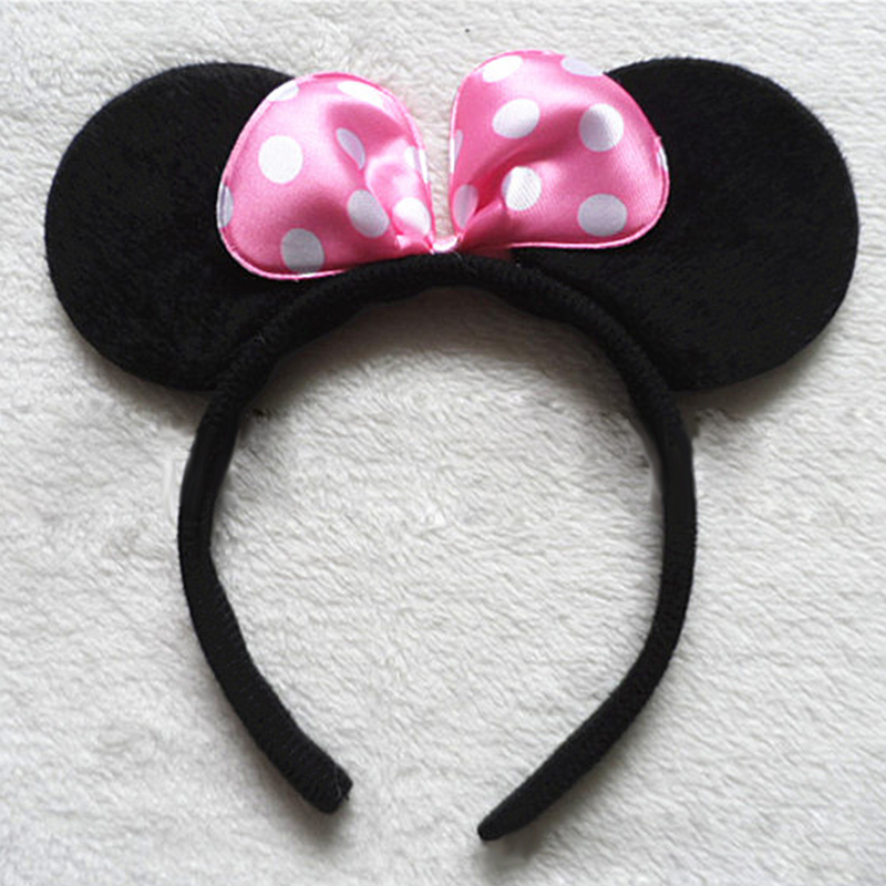 Fancy-Minnie-Mouse-Bow-Mickey-Mouse-Ears-Headband-Shimmer-Ears-Disney-Costume
