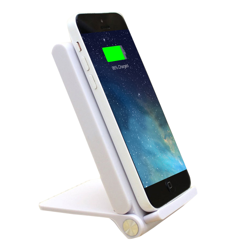 3 coils qi wireless charger foldable charging stand dock for iphone samsung new ebay. Black Bedroom Furniture Sets. Home Design Ideas