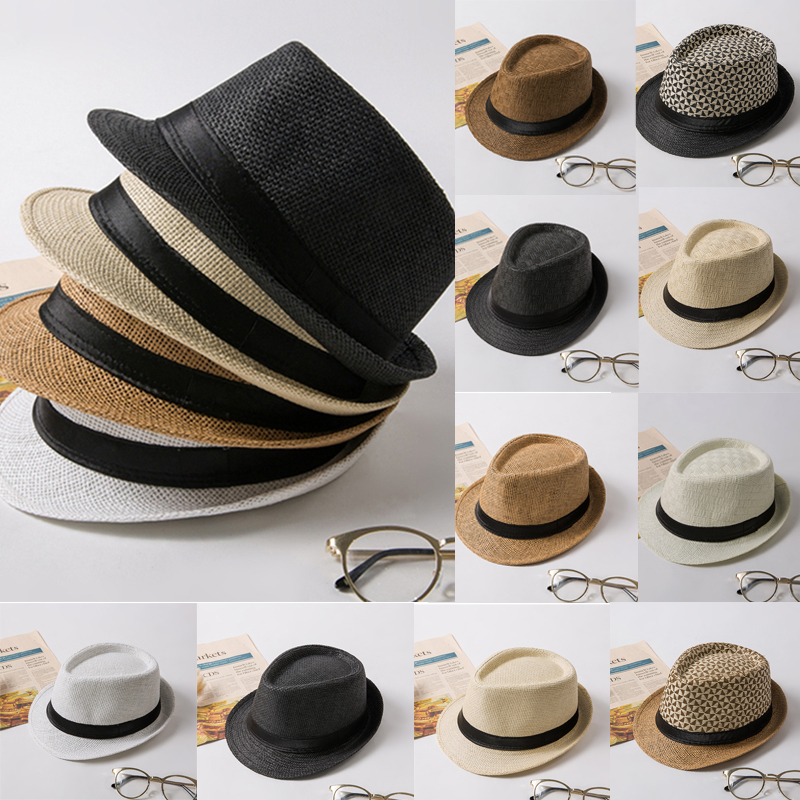 Details about Men Women Unisex Fedora Hat Trilby Cuban Style Upturn Short  Brim Cap Hat Panama d81940e4178