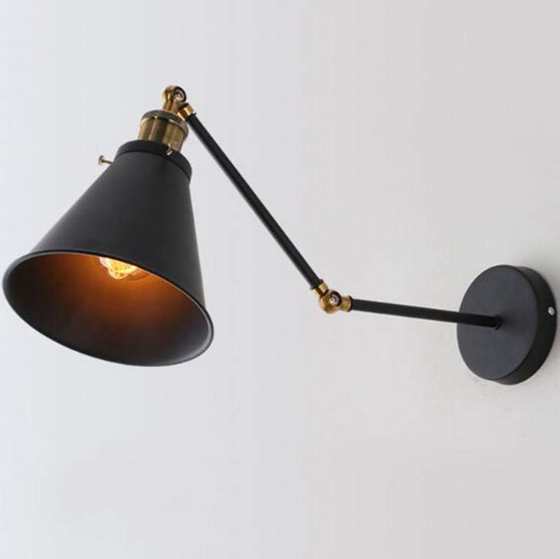 less lamp cone shades wall accordion of look light swing arm