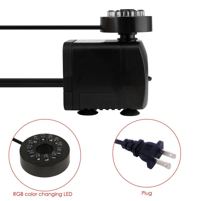 Small submersible fountain water pump pond aquarium for Small water fountain pump