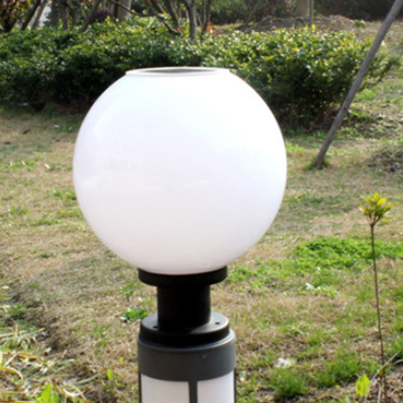 Solar Lights For Retaining Wall : Outdoor Solar Power LED Path Wall Landscape Mount Garden Fence Lamp Round Light eBay