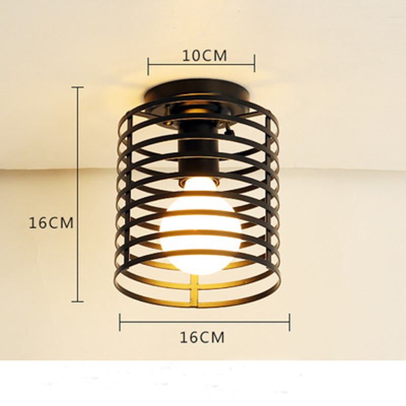 rustic metal light black mount cage flush ceiling pin semi round