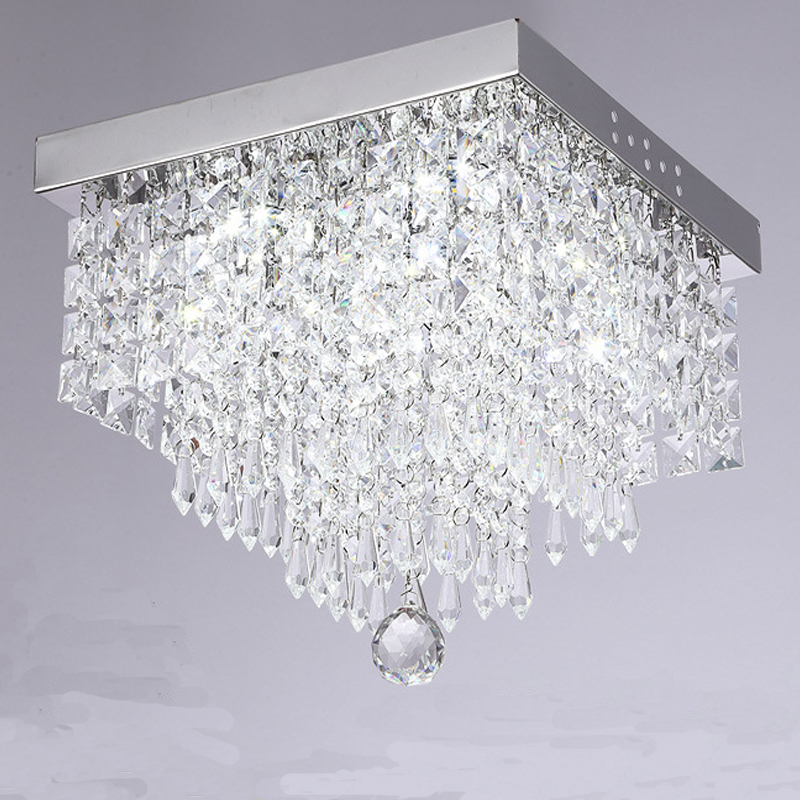 Uk New Modern Led Crystal Ceiling Light Living