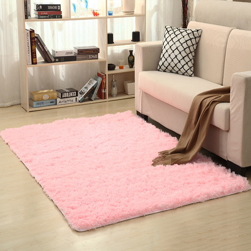 small bedroom rug new soft plain shaggy mats washable non slip large small 13265