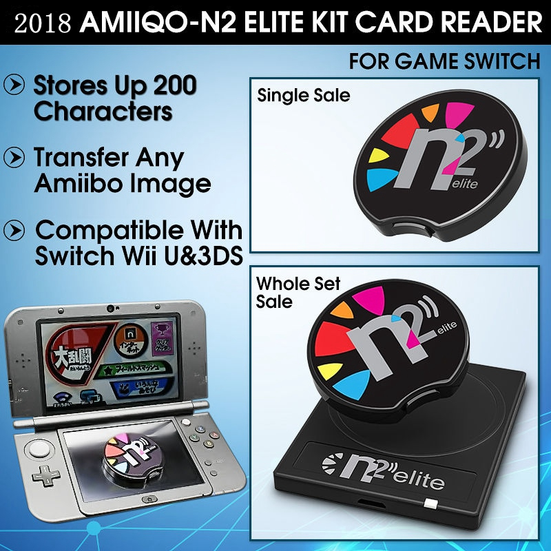 Details about AMIIQO N2 Elite Figurine Emulator+NFC Reader For AMIIBO NEW  3DS /3DS XL/Switch
