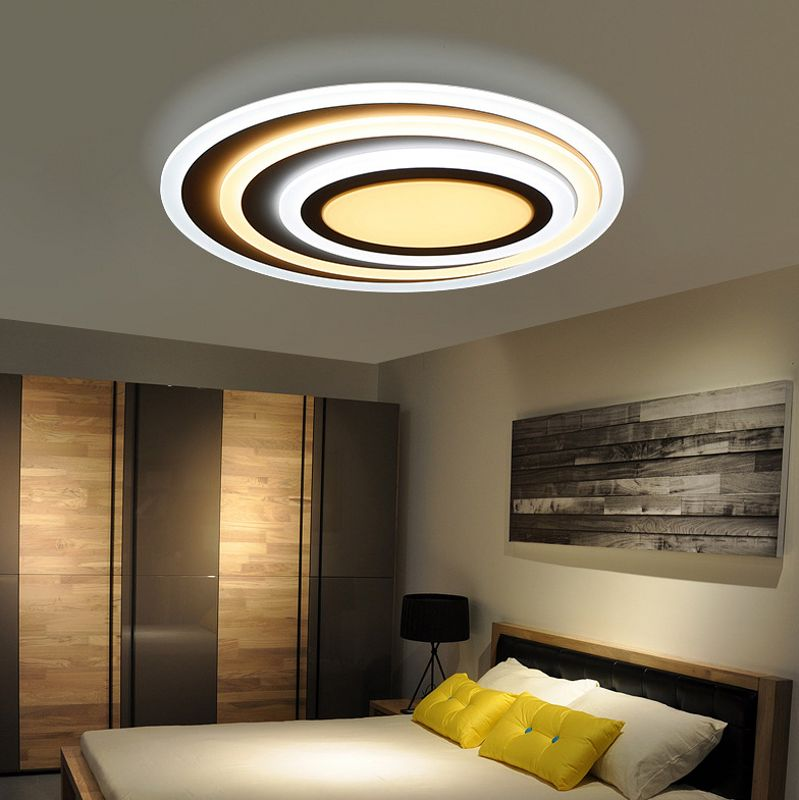 Details about Modern Simple Round Acrylic LED Ceiling Light Living Room  Bedroom Home Lamp